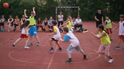 Turnier der Basketball-Kids